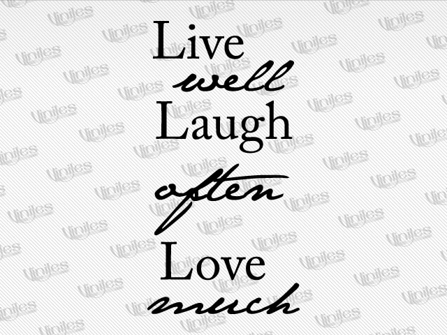 Mural live well laugh often love much negro | Vinilos Decorativos | Decoración de Interiores